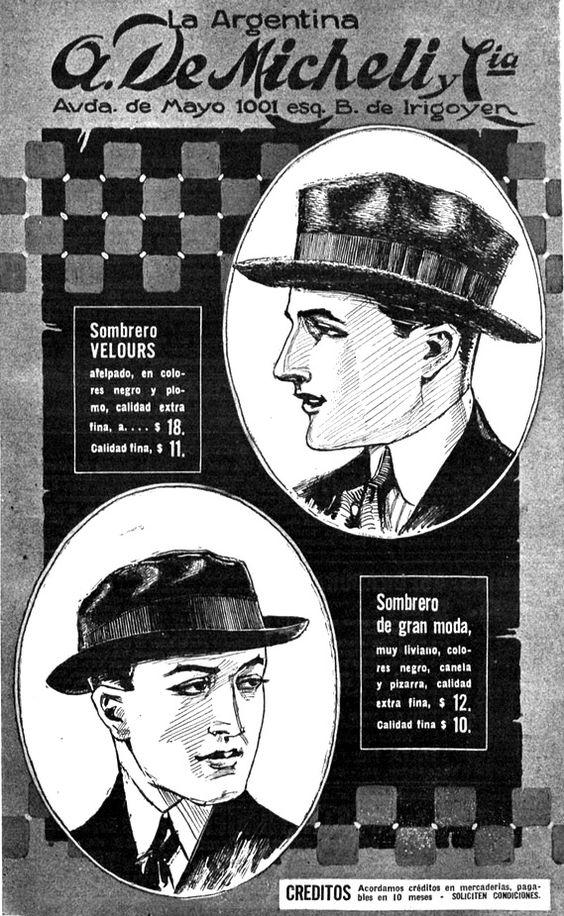 Sombreros para ellos, 1918.
