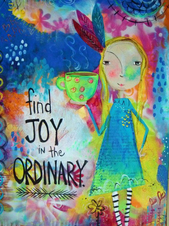 5x7 mixed media print Find Joy in the Ordinary | Etsy