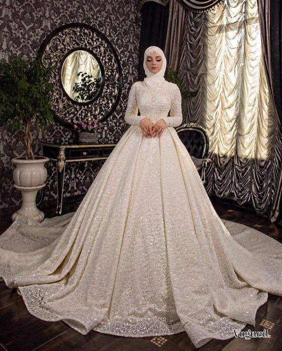 Vous Pouvez Trouver Ici Les Meilleures Robes Pour Mariées Style 2020 Inspirez Vous De Notre Robe De Mariée Musulmane Robes De Mariée Avec Hijab Robe De Mariee