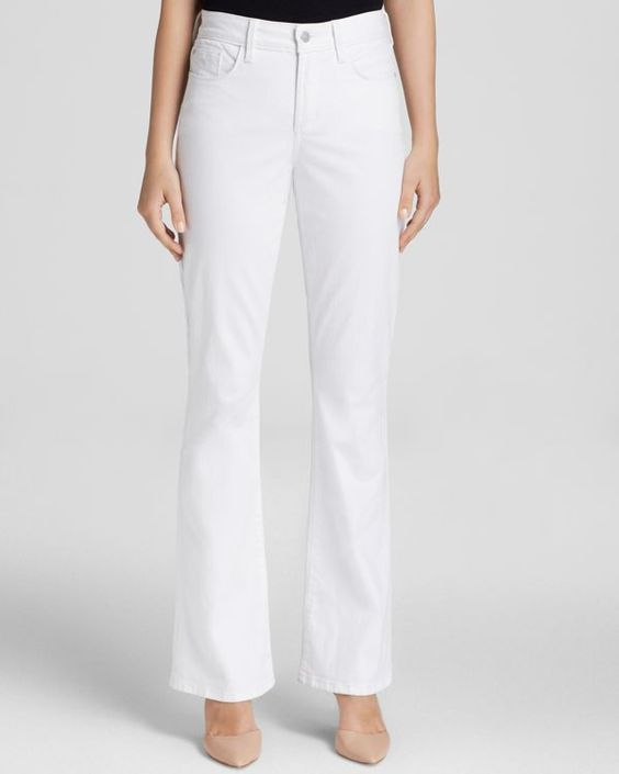 Nydj Flare Leg Jeans in Optic White - Bloomingdale's Exclusive ...