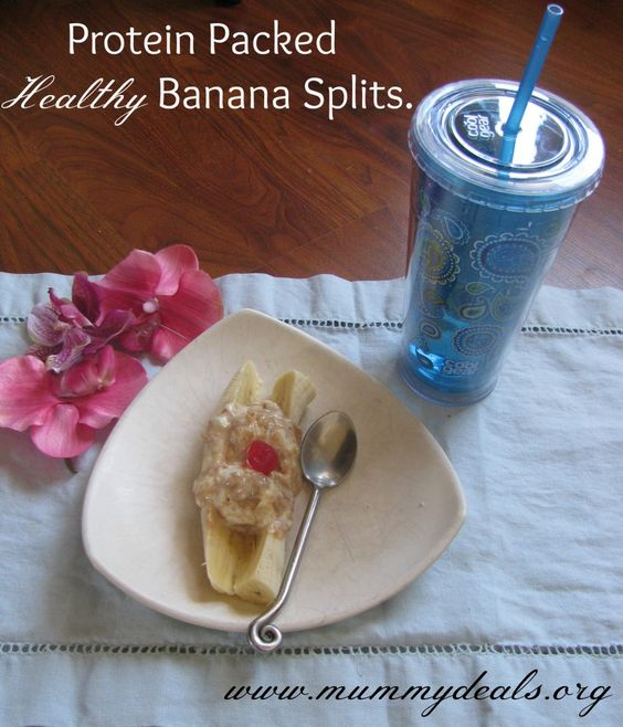 These Protein Packed Healthy Banana Splits are not ice cream but noone ...