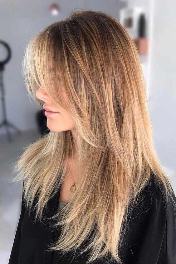 2019 Beautiful Fashionable Hairstyle Shag Haarschnitt Haarschnitt Haarschnitt Lang