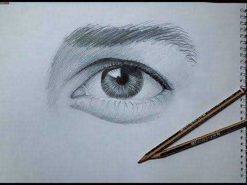 كورس الرسم مع منعم طريقة رسم عين واقعية للمبتدئين بالرصاص Watch In Hd Youtube Art Sketches Sketches Art