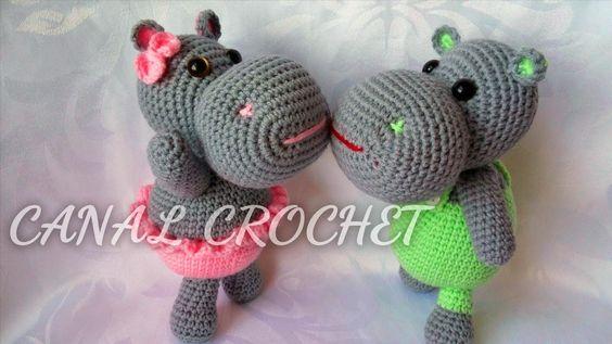 Hippo Amigurumi Patron : CANAL CROCHET: Hipopotamo amigurumi patron libre ...