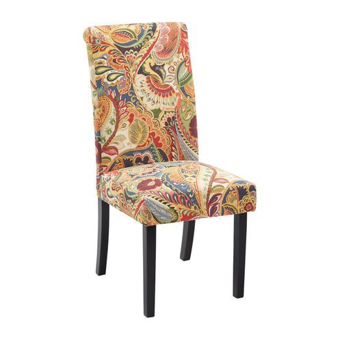 Alyssa Multi Paisley Dining Chair Dining Chairs Chair Dining Room Furniture Modern