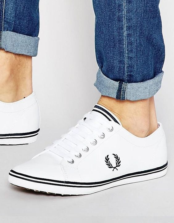 fred perry kingston leather plimsolls rugged rascal the stylish man pinterest kingston. Black Bedroom Furniture Sets. Home Design Ideas