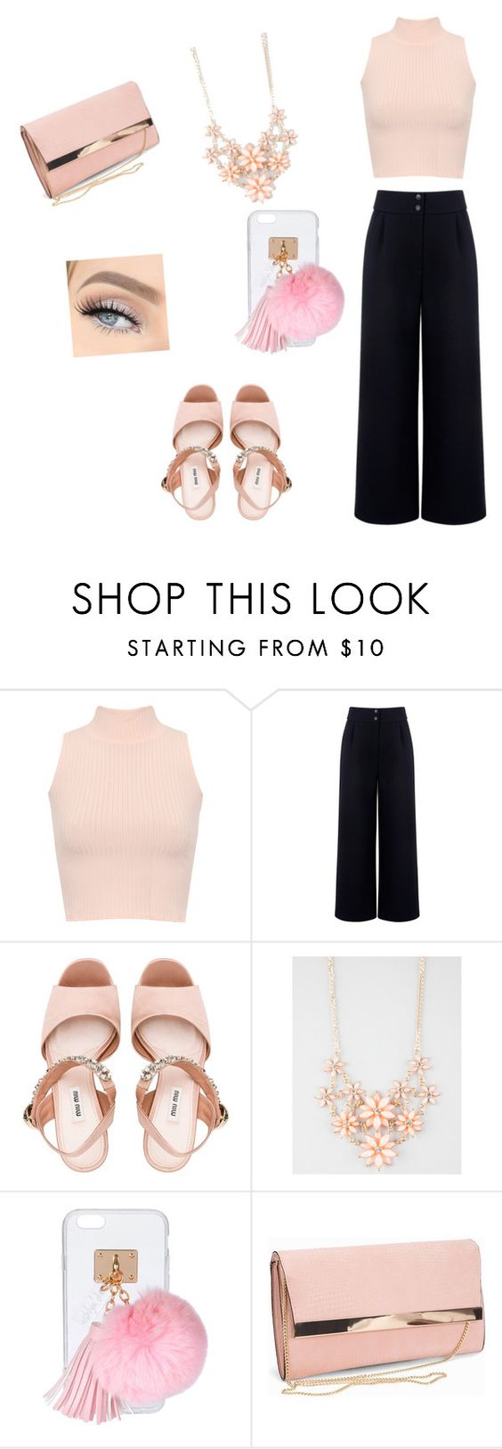 """""""Untitled #150"""" by royal08 ❤ liked on Polyvore featuring WearAll, Être Cécile, Miu Miu, Full Tilt, Ashlyn'd and New Look"""