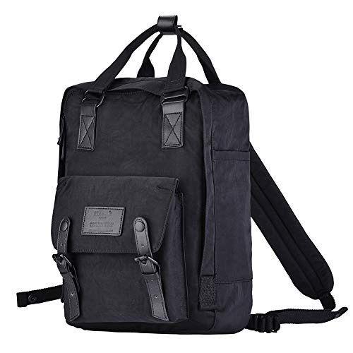 Womens Girls School Backpack Rucksack College Travel Laptop Bag Green Grey 25L