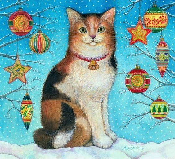 Amy Rosenberg Christmas Cat: