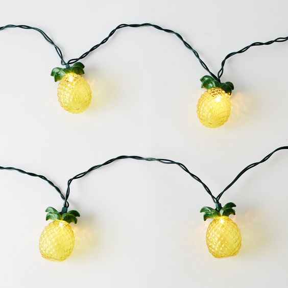 Pineapple String Lights - These would be fun in a tropical themed bar or bathroom.