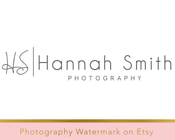 Instant Download Logo DIY Pre-made Logo by PhotographyWatermark