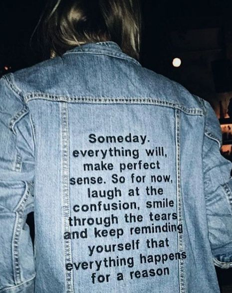 Words on denim | Inspiration #style #quote