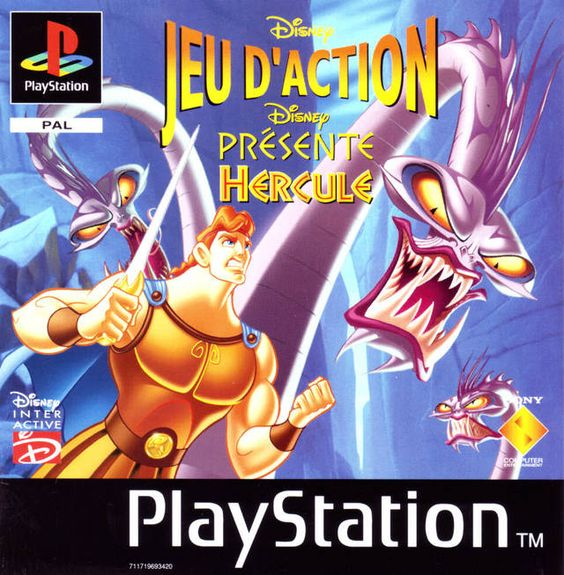 "Jeu d'Action - Disney Présente Hercules (PS1, Fr, Complete - ""Hercules Action Game"" in English)"