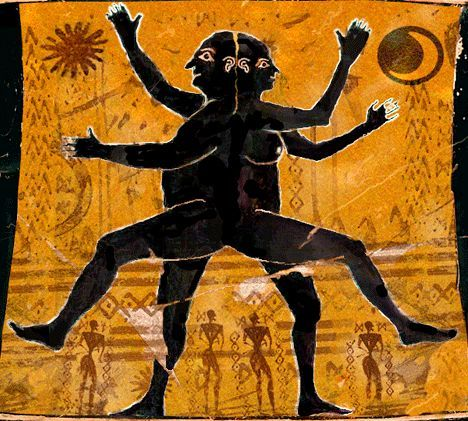 All stories of twin souls and twin flames might just be about the separated androgynes longing to find their other half and become one again, as in the ancient days. Description from symbolisms.net. I searched for this on bing.com/images
