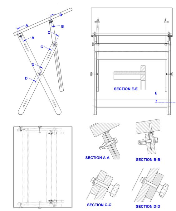 Woodworking drafting table plans pdf download drafting for Blueprint plan table