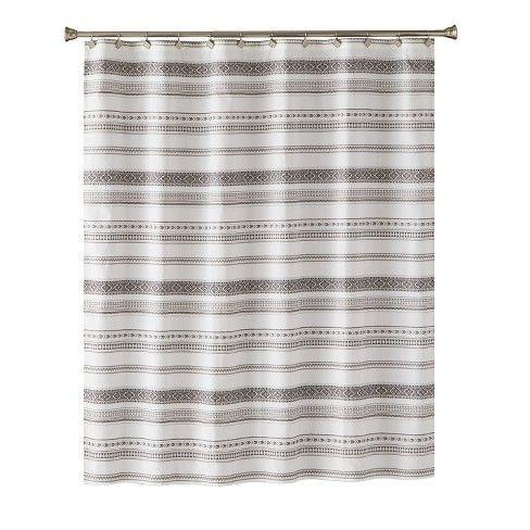Stripe Pattern Shower Curtain Gray Saturday Knight Ltd Grey Curtains Striped Shower Curtains Patterned Shower Curtain