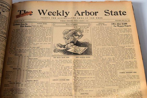 Bound Newspaper Collection  Wymore Nebraska History  The