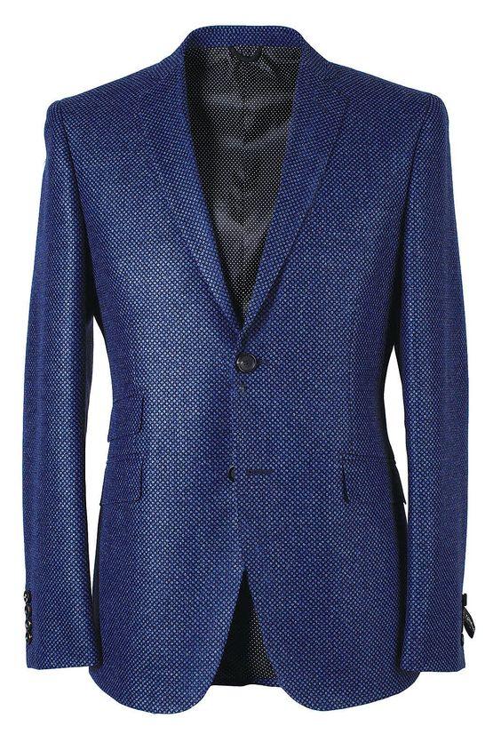 Tonello Uomo AW 2014-2015. Giacca da uomo color blu elettrico.