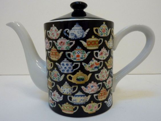 """Tea Leaves"" Teapot by Department 56"