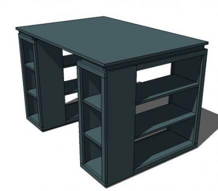 Wood Table Plans Desks 68 Ideas For 2019 Wood Craft Room Tables Craft Table Diy Bookshelves Diy