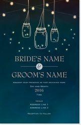 fireflies mason jars Invitations & Announcements