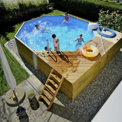 Achteck Holzpool Mit Liegeflache Holzpool Pool Terrassen Design