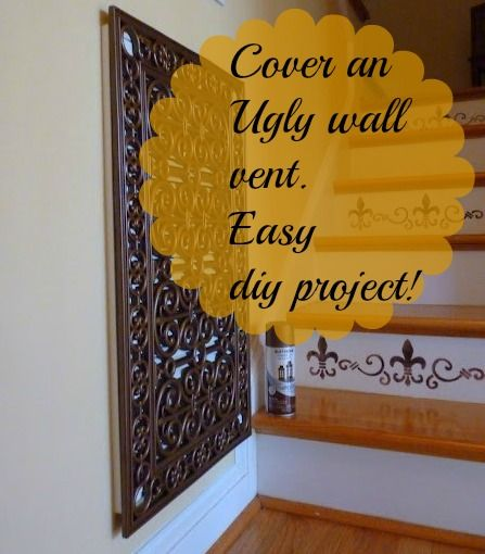How To Cover And An Ugly Wall Vent With A Rubber Door Mat