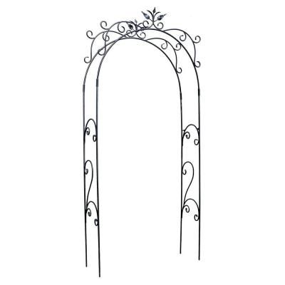 achla designs tuileries 113 in h x 48 in w wrought iron arbor achla designs wrought iron