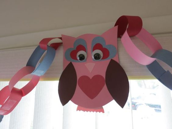 owl craft for Valentine's Day