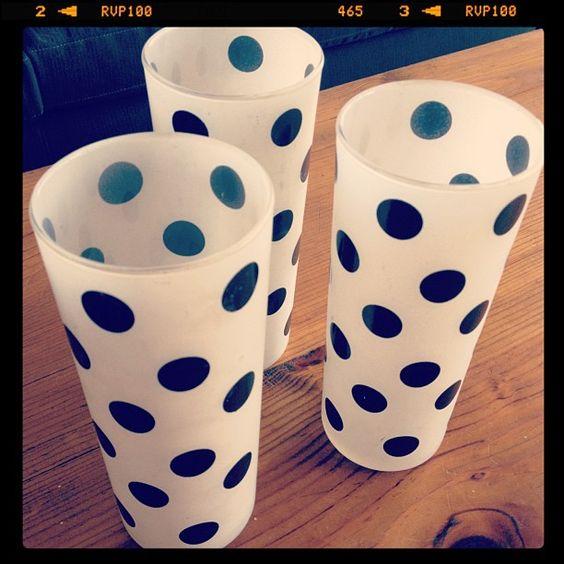Polka Dot glassware
