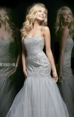 Sequined Long Gown by Sherri Hill 21280