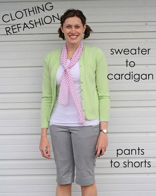 Sweater to a cardigan!  This might be my favorite sewing project EVER!