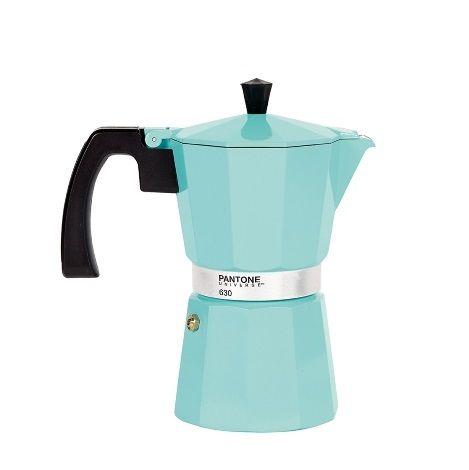 Pantone Coffee Maker 6 Cup Vintage Blue #cafetera italiana colores