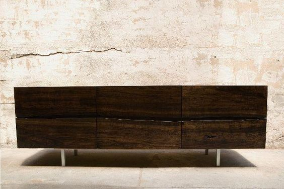 Credenza Dark Wood : Wood and steel credenza google search console