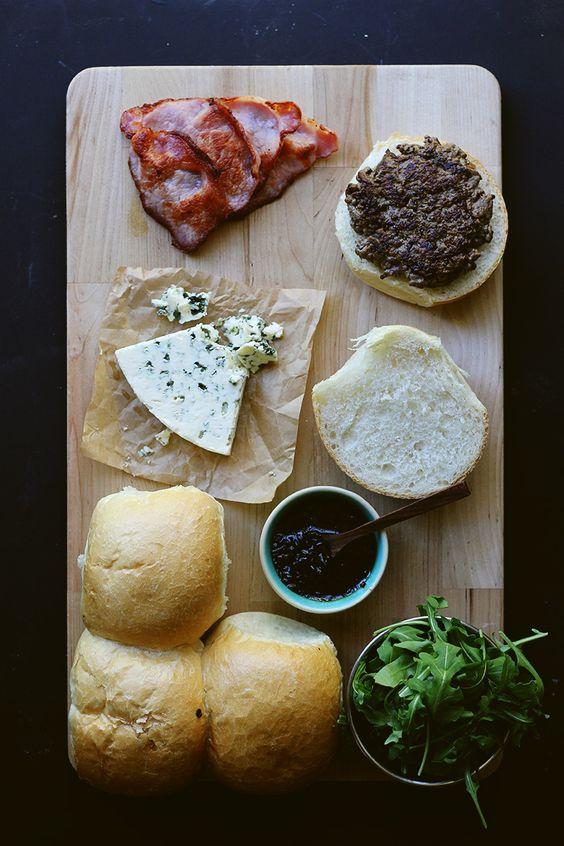 Bacon Blue Cheese Burgers | The Sugar Hit