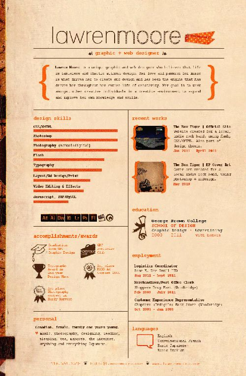 17 Best images about CVu0027s and resumeu0027s on Pinterest Cool resumes - resume design