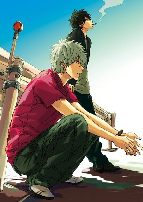 Gintama- Gin-san & Hijikata#anime #illustration: