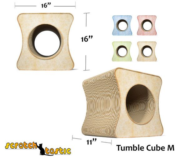 Cat Tumble Cube by ScratchTastic3 on Etsy