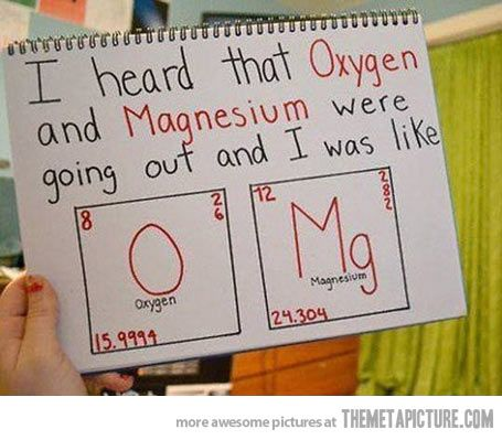 chemistry dating puns