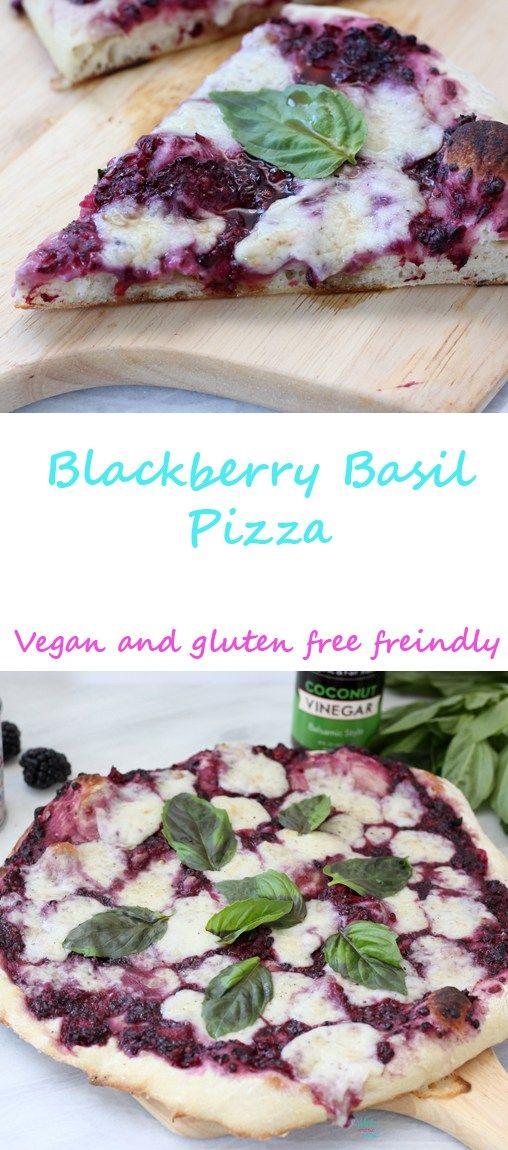 Blackberry Basil Pizza (vegan) (vegan and gluten free friendly, pictures are vegan but not gluten free):