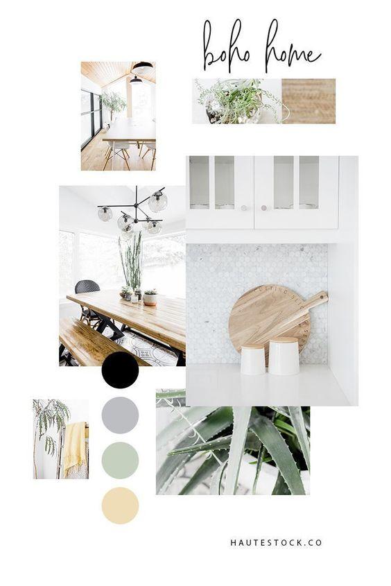 ボーホ―インテリア カラー パレット サンプル イメージ