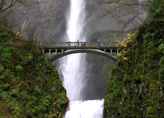 Multnomah Falls – Portland Oregon Tourist Attractions Map