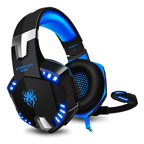 Casque Gaming Ps4 Kingtop Kg2000 Ecouteur Gamer Filaire Avec Micro Basse Stereo Led Lumiere Controle Du Volume Pour Playstati Gaming Headset Headset Headphones