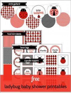Free ladybug printables