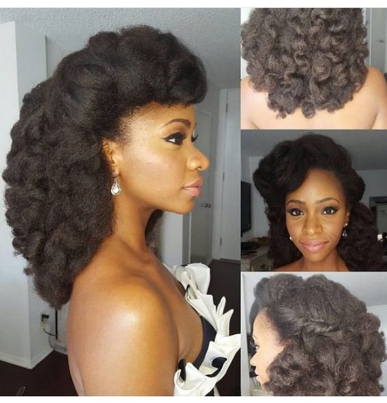 Go to http://www.dawnali.com/long-real-black-hair-natural-and-relaxed-super-growth-oils/ for hair growth. Natural Brides    Soft, rollling curls for a stunning bridal afro natural hair look #dawnali Dawn Ali