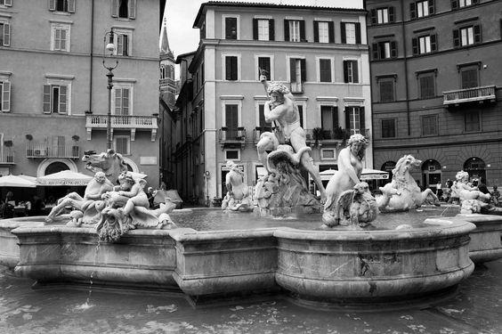 #fontana #rome #italy #sep2015 #blackandwhite by karen_vfd