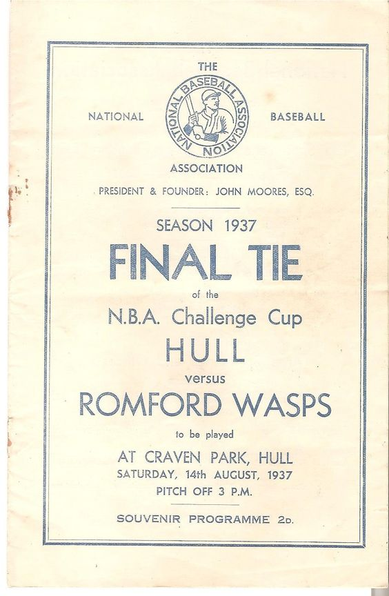 NBA Challenge Cup Final, Hull vs. Romford Wasps at Craven Park, Hull (1937)