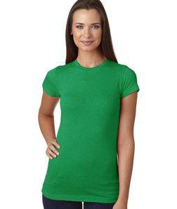 LA T Juniors' Fine Jersey Vintage Longer Length T-Shirt 3605 Vintage Green