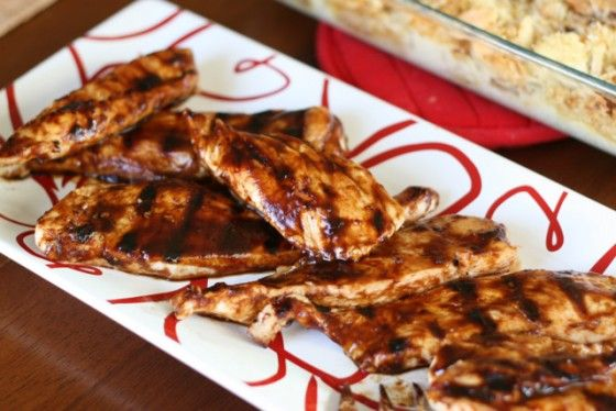 Chicken with balsamic bbq sauce