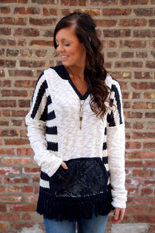 Miss Me Into The Navy Pullover – 1 Happy Girl